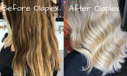 Before and After Bleaching With Olaplex 1 and 2