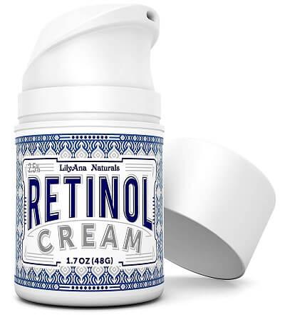 LilyAna Naturals Retinol Cream Moisturizer Drugstore Dark Spot Corrector