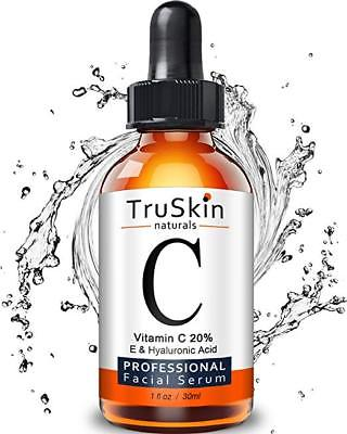 TruSkin Naturals Vitamin C Serum for Face, Topical Facial Serum with Hyaluronic Acid & Vitamin E
