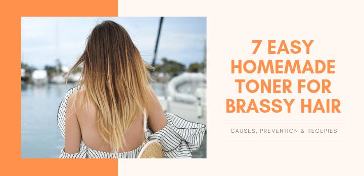 Homemade toner for brassy hair - tried