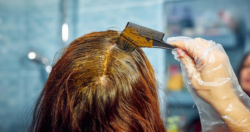 henna on gray hair
