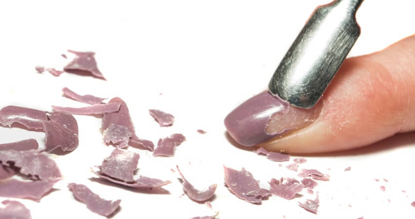 removing gel polish the wrong way