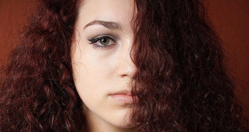 red brassy hair