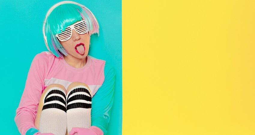 woman wearing Eye-Poppin' Colors