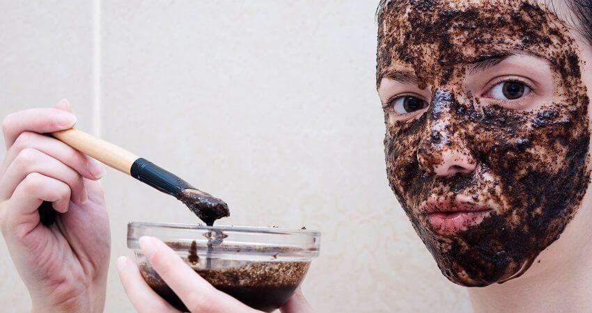 coffee scrub on face